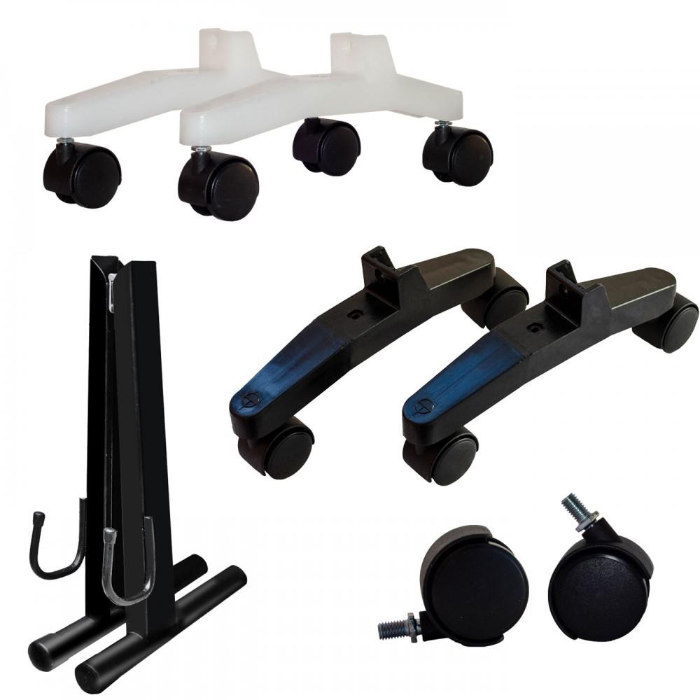 Опоры напольные металлические, пластиковые (с колесиками)