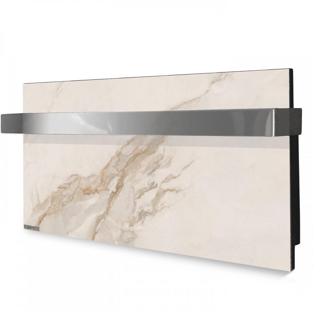 купити електричну рушникосушку керамічну Ceramic 250/220-Towel white marble (горизонтальна)