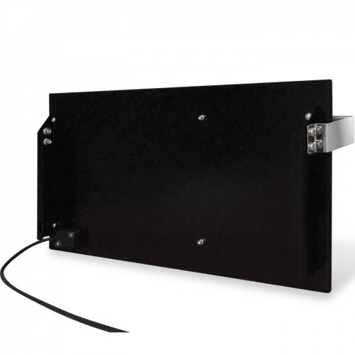 купити електричну рушникосушку керамічну Ceramic 250/220-Towel black (горизонтальна)