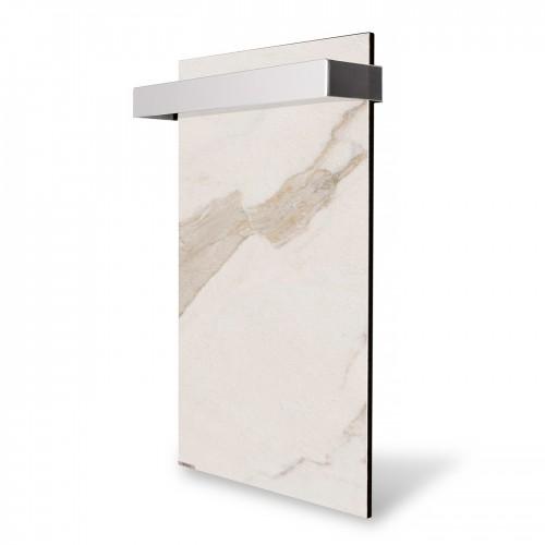 купити електричну рушникосушку 0,25 кВт керамічну Ceramic 250/220-Towel white marble вертикальна