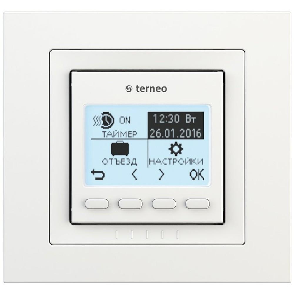 купить Терморегулятор terneo pro unic, белый, без датчика температуры пола