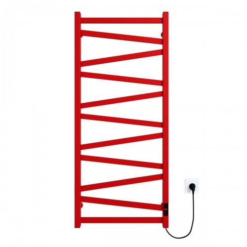 Рушникосушка електрична Alpha П11 500х1200 Е праве підключення (червоний)