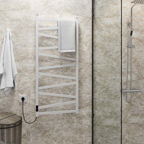 купить электрический полотенцесушитель Alpha П11 500х1200 Э левое подключение (белый)