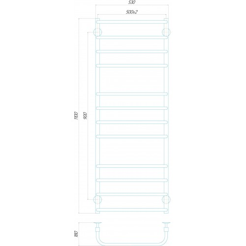 купить электрический полотенцесушитель Люкс П12 500x1100 Э левое подключение
