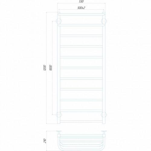 Рушникосушка електрична Люкс Отель П11 500x1200 Е ліве підключення