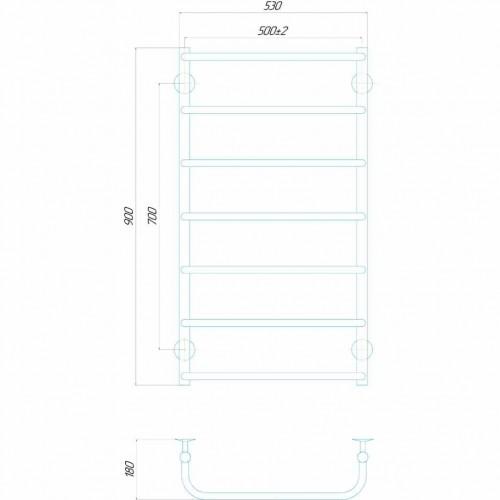 купить электрический полотенцесушитель Стандарт П7 500x900 Э левое подключение