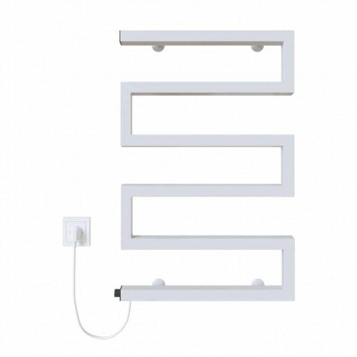 купить электрический полотенцесушитель Zeta 500х675 Э левое подключение (белый)