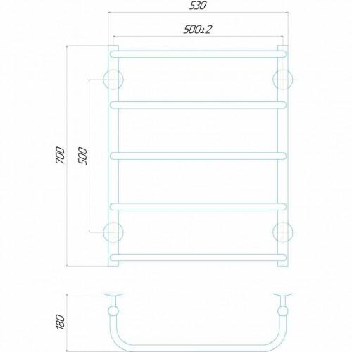 купить электрический полотенцесушитель Стандарт П5 500x700 Э правое подключение