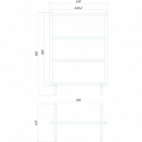 купить электрический полотенцесушитель Сушка прямая П4 600x800 Э