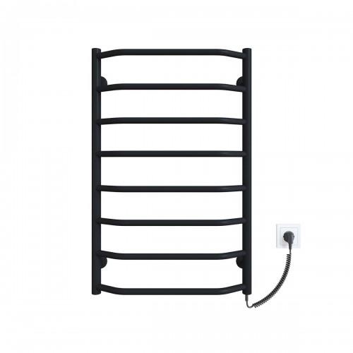 купить электрический полотенцесушитель Трапеция П8 500x800 ЧФ правое подключение (черный)