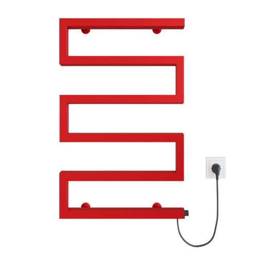 купить электрический полотенцесушитель Zeta 500х675 Э правое подключение (красный)