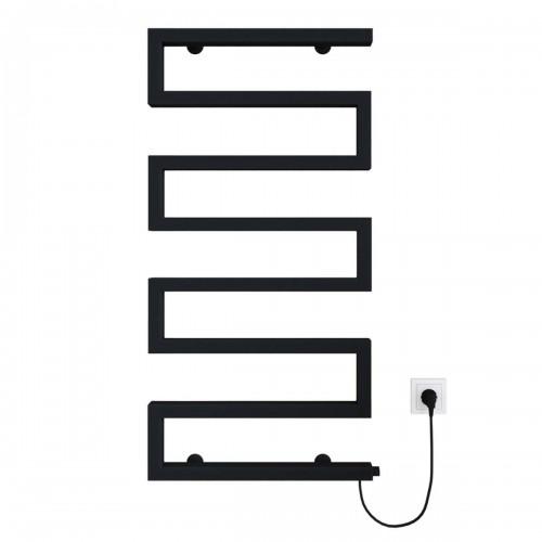 купить электрический полотенцесушитель Zeta 500х945 Э правое подключение (черный)
