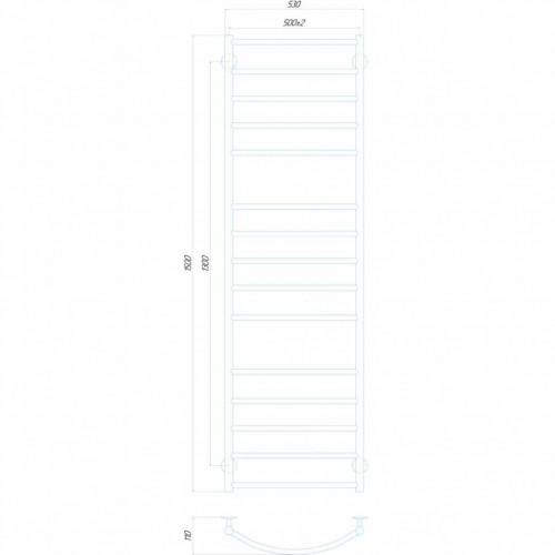 Рушникосушка електрична Класік Еліт П15 500x1500 Е праве підключення