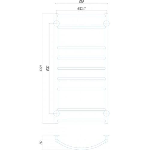 купить электрический полотенцесушитель Классик Элит П9 500x1000 Э правое подключение