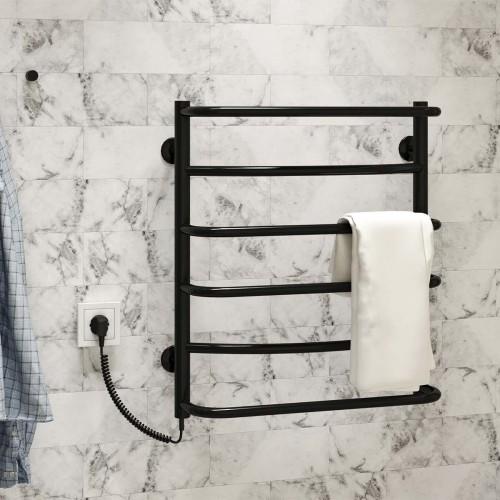 купить электрический полотенцесушитель Аквамикс П6 500x600 ЧФ левое подключение (черный)