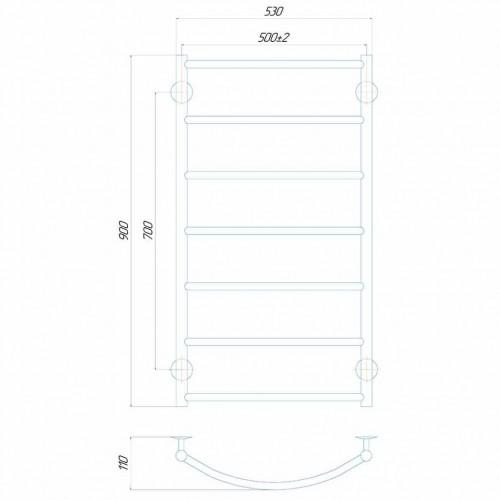 купить электрический полотенцесушитель Классик П8 500x900 Э правое подключение