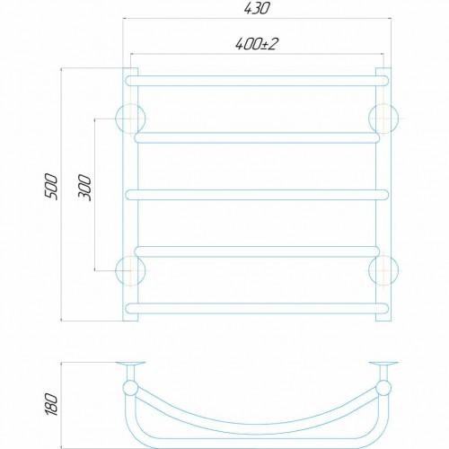 купить электрический полотенцесушитель Аквамикс П5 400x500 Э правое подключение