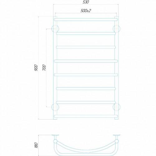купить электрический полотенцесушитель Аквамикс П8 500x900 Э правое подключение