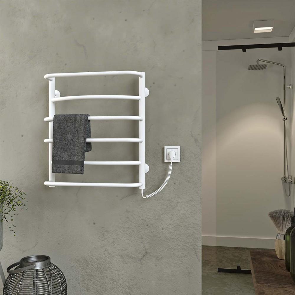 купить электрический полотенцесушитель Аквамикс П6 500x600 ЧФ правое подключение (белый)