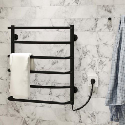 купить электрический полотенцесушитель Аквамикс П6 500x600 ЧФ правое подключение (черный)