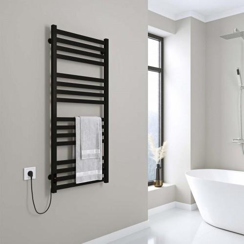 купить электрический полотенцесушитель Magnus П16 500х1200 Э левое подключение (черный)