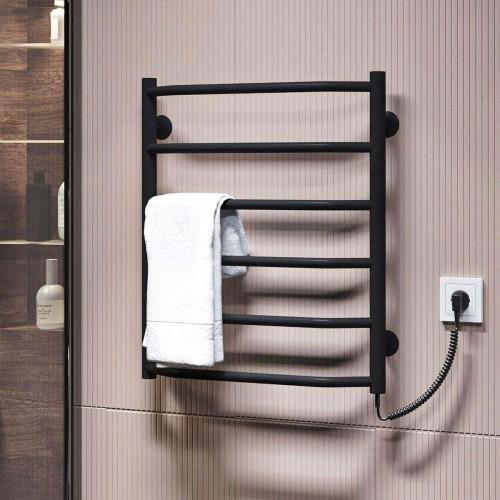 купить электрический полотенцесушитель Трапеция П6 500x600 ЧФ правое подключение (черный)