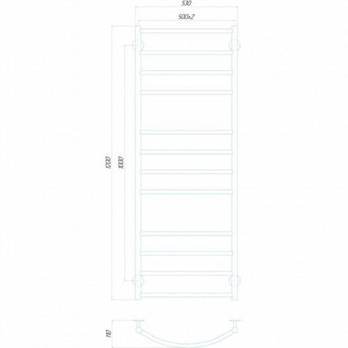 Рушникосушка електрична Класік Еліт П12 500x1200 Е ліве підключення