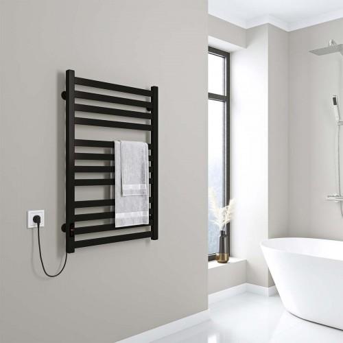 купить электрический полотенцесушитель Magnus П12 500х800 Э левое подключение (черный)