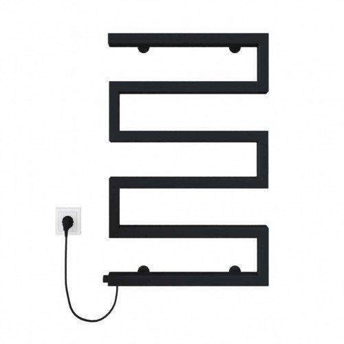 купить электрический полотенцесушитель Zeta 500х675 Э левое подключение (черный)