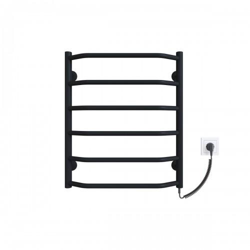 Рушникосушка електрична Трапеція П6 500x600 ЧФ праве підключення (чорний)
