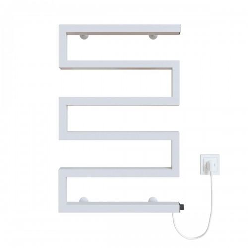 купить электрический полотенцесушитель Zeta 500х675 Э правое подключение (белый)