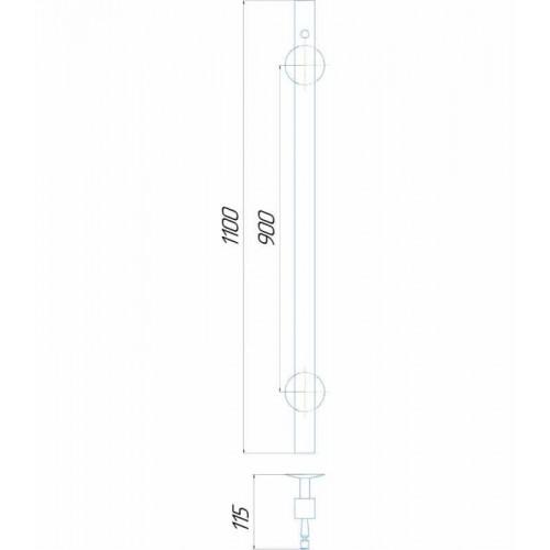Рушникосушка електрична Молнія квадрат 1100/30 Э