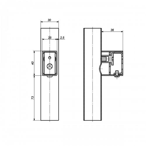 Рушникосушка електрична Комплект прихованого підключення Арт дизайн